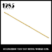 2.4mm Silver or gold plated Brass Ball Chain For Necklace And Jewelry Chain