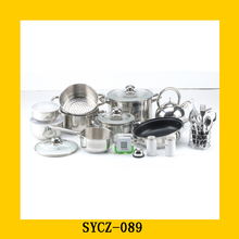 wholesale 18 10 stainless steel kitchen cookware set
