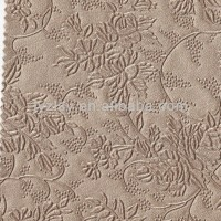 Golden Flower Wall Decoration PVC Artificial Leather