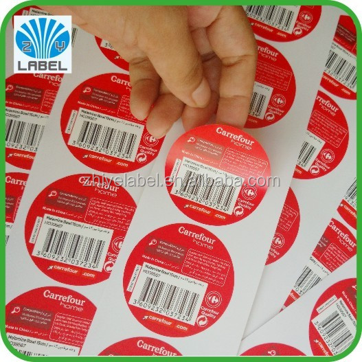 High quality custom shredded paper anti-fake secure label, color printing roll label, self adhesive fragile label