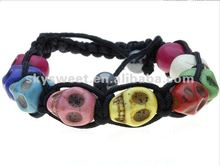 2012 new fashion skull Ghost linked bracelet,Ghost bead bracelet,beaded honesty bracelet(SWNBR137)