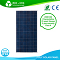 Grade A cell high efficiency poly solar panel CE certificated 100W 150W 200W