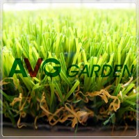 Thick Natural Green Landscaping Artificial Grass Lawn for Garden Use