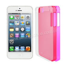 Colourful Transparency Clear Crystal Hard Case For iPhone5