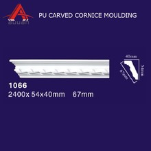 1066 China ceiling decorative materials polyurethane foam pu cornice/ ceiling mouldings for interior decoration