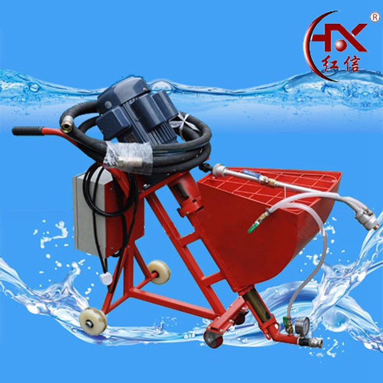 HX-760 Cement Mortar Spraying Machine Plastering Machine For Wall Cement Injection Grouting Pump