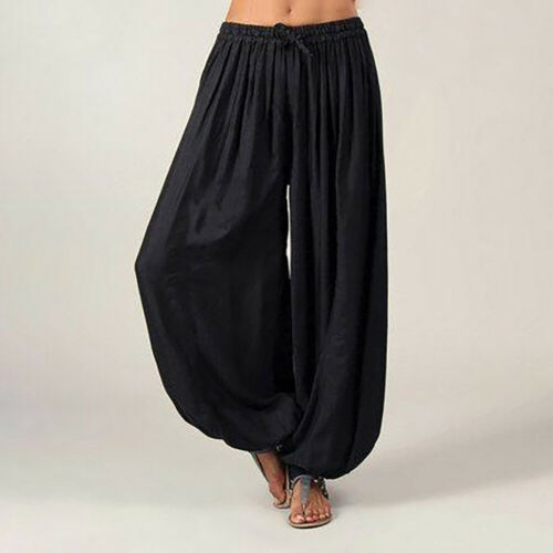 Patchwork Indian Silk Trousers Boho Aladdin Afghan Pants Flares Yoga Harem