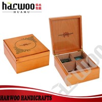 Unique wooden tea packaging case/box with 4 compartments