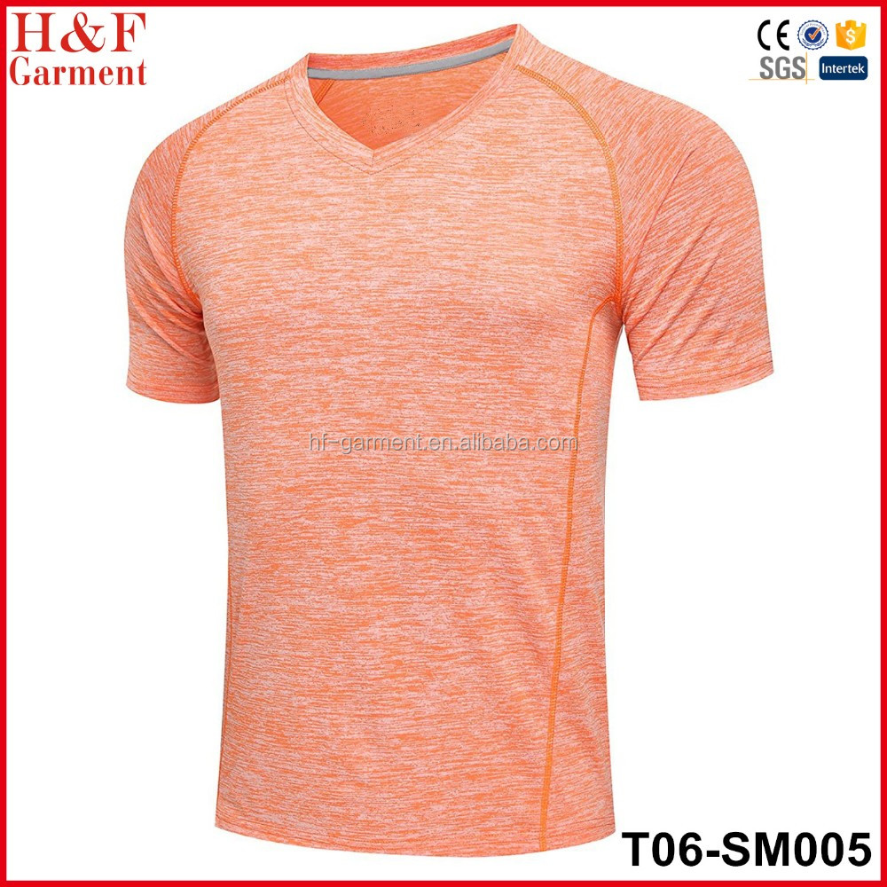 2016 Stylish outdoor track pure t shirt for mens with 100% polyester