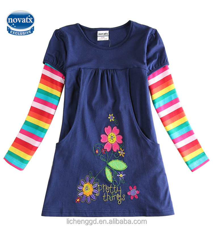 (H5802)Navy 2-6Y nova kids clothes new model flower girl dress latest dress designs china wholesale alibaba for 2016
