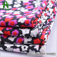 Mulinsen Textile Knitted Small Flower Printed Polyester Spandex FDY 60 Inch Wide Fabric