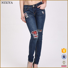 Latest New Design Jeans Fashion Jointed Skinny Jeans