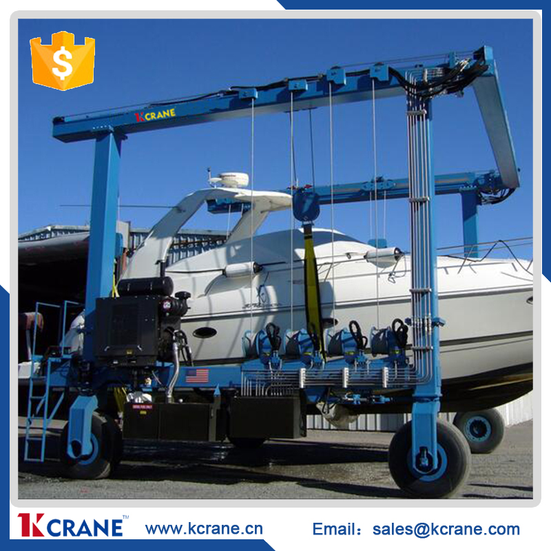 high quality Straddle carrier, shipyard crane, mobile boat hoist