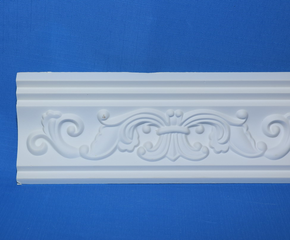 Classic Decorative PU crown light weight cornices for house decor