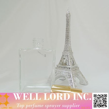 Japan cosmetic must buy 60ml use clear glass square french bottles