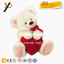 Custom teddy bear with logo heart wholesale plush teddy bear