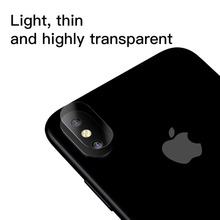 0.15mm Transparent Camera Lens Screen Protector For iPhone X 10 Clear Back Cover Phone Lens Tempered Glass For iPhoneX