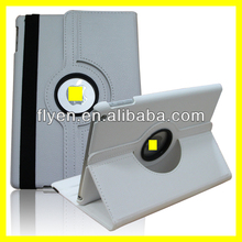 Case Cover for iPad Air 5th Generation 9.7 White 360 Rotating Magnetic PU Leather