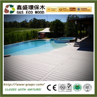 Cheap Price flooring wpc anti-uv wood plastic composite decking outside swimming pool wpc board