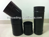 CE and enamel single wall welded cast iron chimney pipe for stove and fireplace
