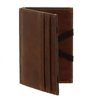 Brown Leather Credit Card Holder Wallet