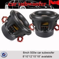 high quality jld audio car sub woofer 8inch car audio speaker 500w rms small subwoofer