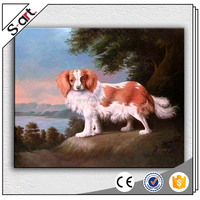Handmade canvas oil painting dogs for Modern Living Room Home Wall Decoration