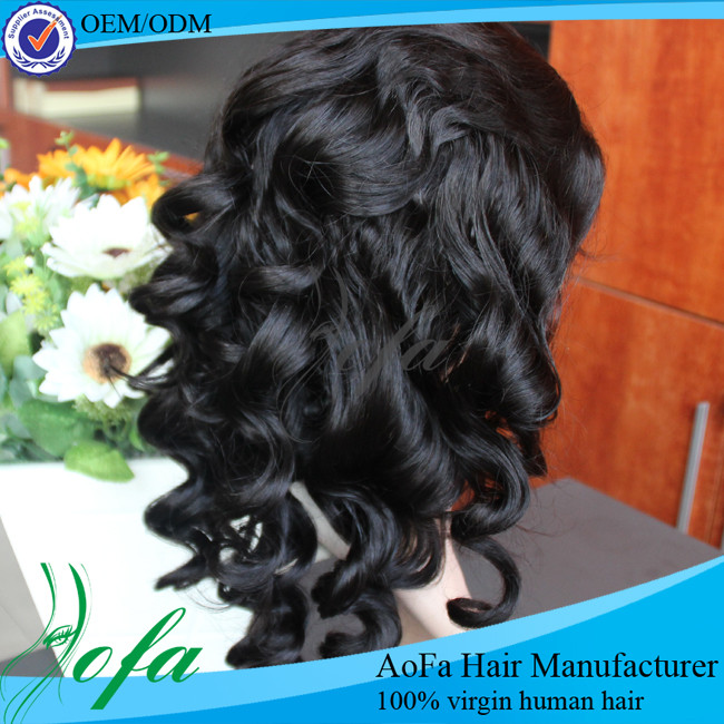 With bady hair human hair lace frontal wig making sewing machine