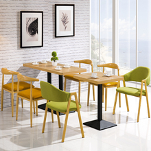 Commercial Restaurant tables and chairs KFC fast food cafe Furniture sets 1 tables and 4 chairs