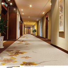 Latest graceful prince white Wool material hotel corridor carpet