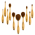 2017 Hot 10pcs Tooth Brush Style Oval Makeup Brush Set Eyebrow Eyeliner Lip Oval Makeup Brush