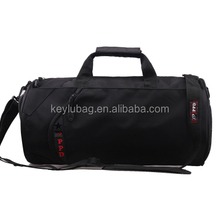 Hot sale black Athletic sports Duffle bag high quality travel bag