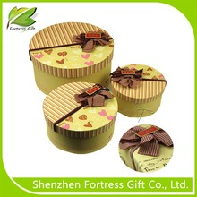 customized cardbaord round gift box paper cylinder box and round paper cardboard box