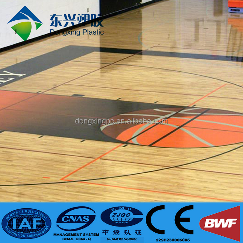 Portable plastic outdoor interlocking basketball court sports flooring/
