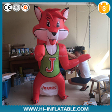 Inflatable Fox cartoon,inflatable fox model,inflatable animal toys for advertising