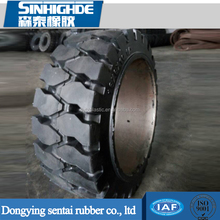 Wear-resistance type 16x7x10 1/2 Forklift Tire, Press-on Solid Tire