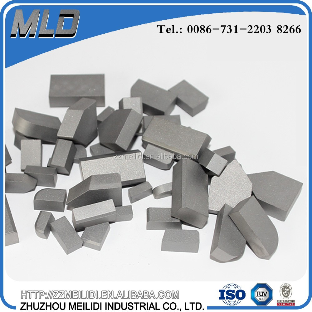 YG6/YG8/YT5/YT15 cemented carbide brazed tips carbide cutting tips for brazed tools bits