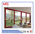 Wood color design low-e glass aluminum doors commercial prices