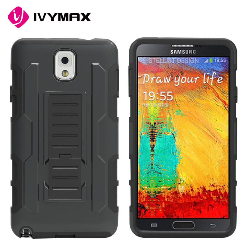 High quality rugged mobile holster phone case for Samsung galaxy note 3