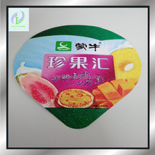 Factory price non-stick yogurt embossed foil lid