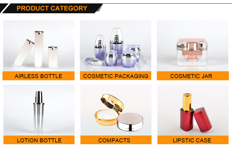 2018 High quality cosmetic plastic luxury cosmetic empty packaging