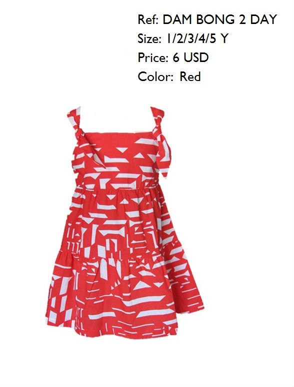 NEW FASHION RED AND WHITE COTTON DRESS COLLECTION 2011