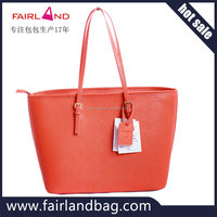 colorful fashion lady leather handbag customized factory