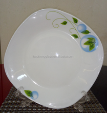 square flat plate dish,glass square flat plate