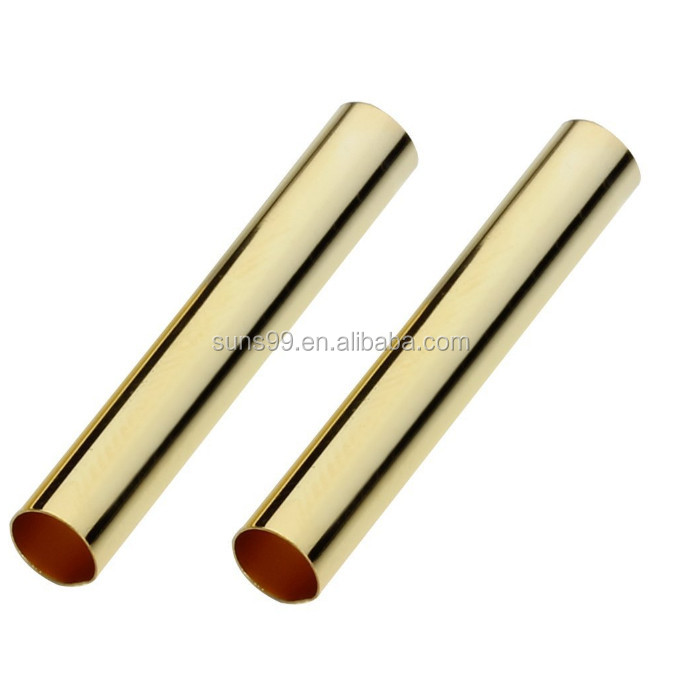 Gold Plated Stainless Steel Straight Long Tube Spacer Beads 30x4mm