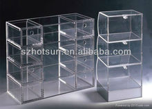 acrylic jewelry display case with lock and tiers
