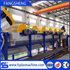 Automatic plastic PET bottle crushing washing drying recycling machine