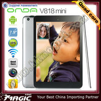 7.9inch Allwinner A31 onda v818 mini from China Supplier