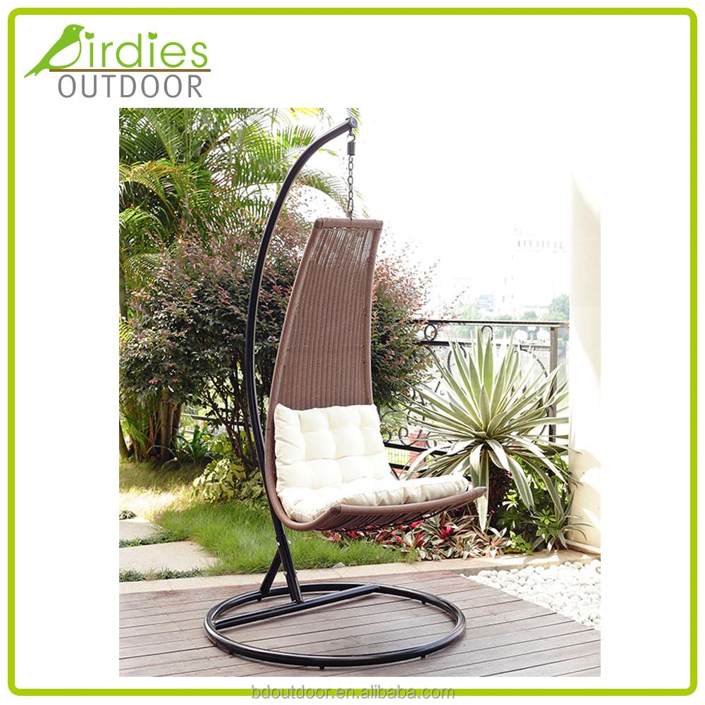 Cocoon chair outdoor - Cocoon Hanging Chair Rattan Swing Garden Outdoor Swing