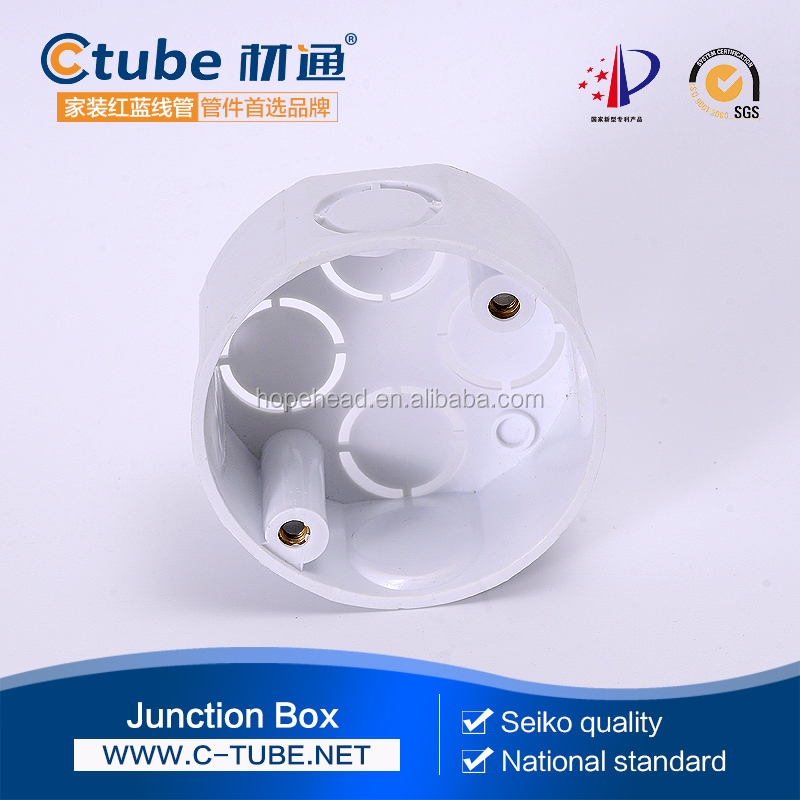Round way electrical PVC Junction Boxes Plastic circular junction box